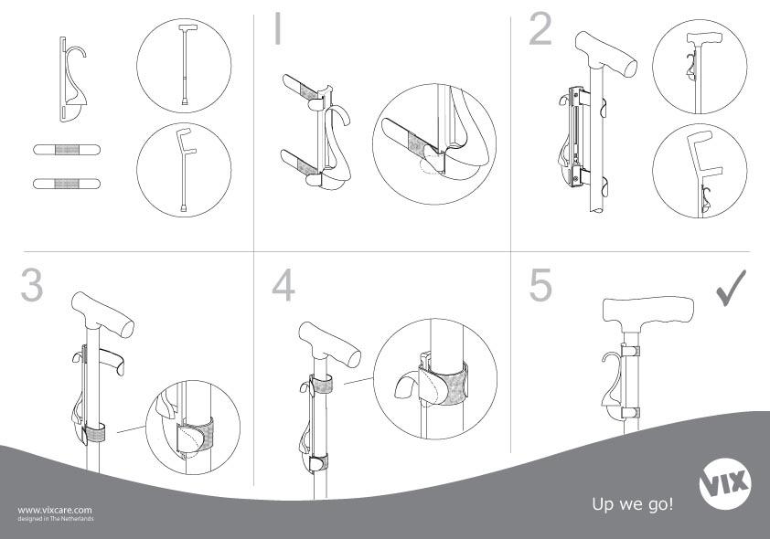 VIX Jive wandelstokklem montage handleiding